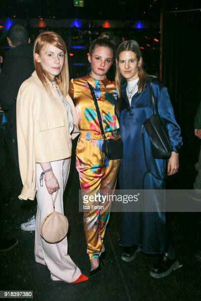 Designer Malaika Raiss Swiss actress Jasna Fritzi Bauer and style icon Aino Laberenz attend the Young ICONs Award in cooperation with ICONIST at...