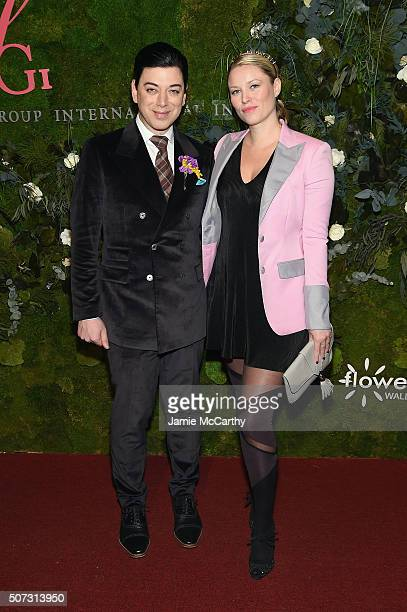 Designer Malan Breton and actress Kiera Chaplin attend the 19th Annual Fashion Group International Rising Star Awards at Cipriani 42nd Street on...