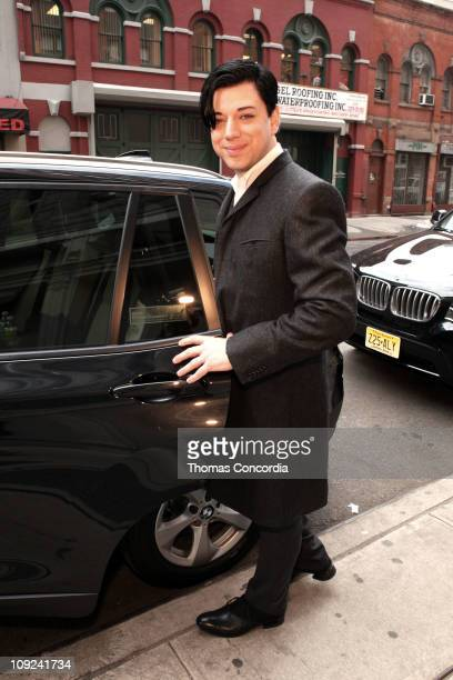 Designer Malan Breton arrives to the EMU Australia Fashion Show at NYC Fashion Week STYLE360 presented by Polaroid Eyewear at Metropolitan Pavilion...