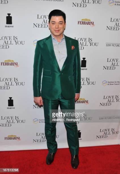 """Designer Malan Breton arrives to the premiere of Sony Pictures Classics' """"Love Is All You Need"""" at Linwood Dunn Theater at the Pickford Center for..."""