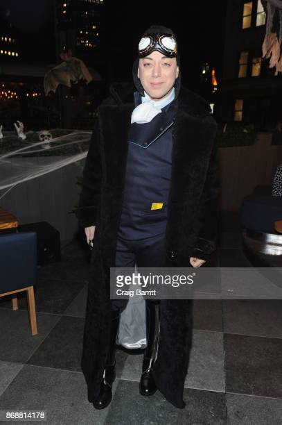 Designer Malan Breton attends Heidi Klum's 18th Annual Halloween Party sponsored by Party City and SVEDKA Vodka at Magic Hour at Moxy Times Square on...