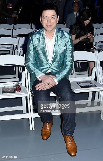 Designer Malan Breton attends the Jeffrey Fashion Cares 13th Annual Fashion Fundraiser at the Intrepid SeaAirSpace Museum on April 4 2016 in New York...