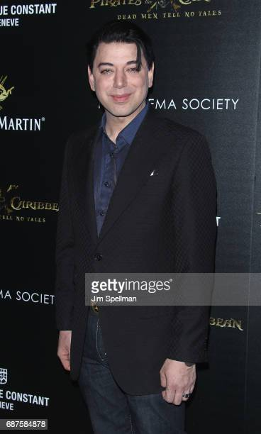 Designer Malan Breton attends the screening of Pirates Of The Caribbean Dead Men Tell No Tales hosted by The Cinema Society at Crosby Street Hotel on...