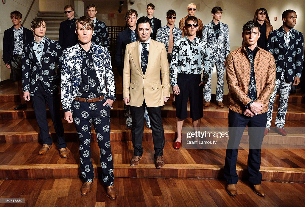 Designer Malan Breton poses at his presentation during New York Fashion Week: Men's S/S 2016 on July 14, 2015 in New York City.