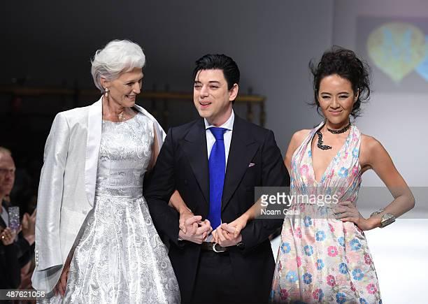 Designer Malan Breton walks the runway at the Malan Breton fashion show during Spring 2016 New York Fashion Week at Gotham Hall on September 10 2015...
