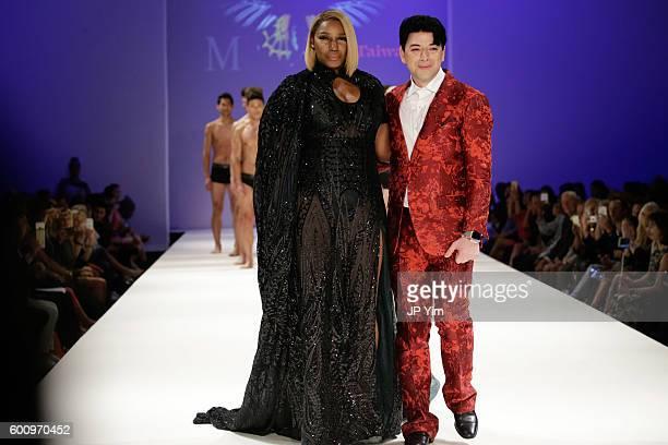 Designer Malan Breton walks the runway at the Malan Breton fashion show during New York Fashion Week September 2016 at Hammerstein Ballroom on...