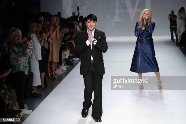 Designer Malan Breton walks the runway at the Malan Breton SS18 during New York Fashion Week at Intrepid on September 7 2017 in New York City