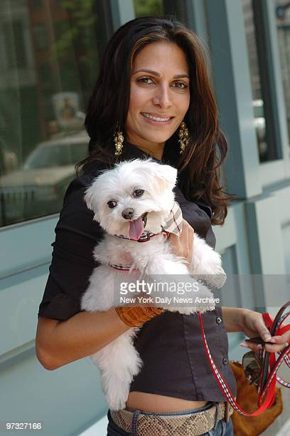 Designer Malini Murjani and her Maltese, Bianca, attend a fourth birthday party for Romeo, author Kim Hastreiter's white Dandie Dinmont terrier, at...