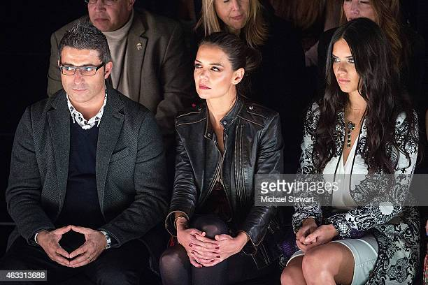 Designer Manel Jadraque actress Katie Holmes and model Adriana Lima attend Desigual show during MercedesBenz Fashion Week Fall 2015 at The Theatre at...