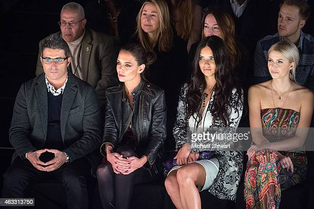 Designer Manel Jadraque actress Katie Holmes and model Adriana Lima and Lena Gercke attend Desigual show during MercedesBenz Fashion Week Fall 2015...