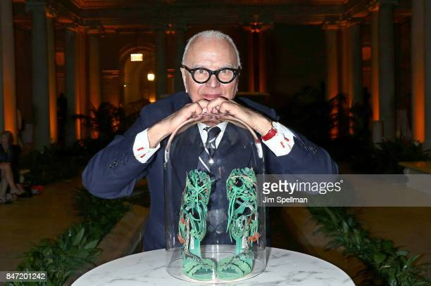 Designer Manolo Blahnik attends the premiere of Manolo The Boy Who Made Shoes For Lizards hosted by Manolo Blahnik with The Cinema Society at The...