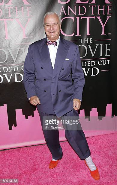 Designer Manolo Blahnik attends the Sex and the City The Movie DVD launch at the New York Public Library on September 18 2008 in New York City New...