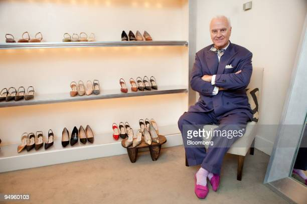 Designer Manolo Blahnik poses for a portrait during Fashion's Night Out at a Manolo Blahnik store in New York US on Thursday Sept 10 2009 The opening...