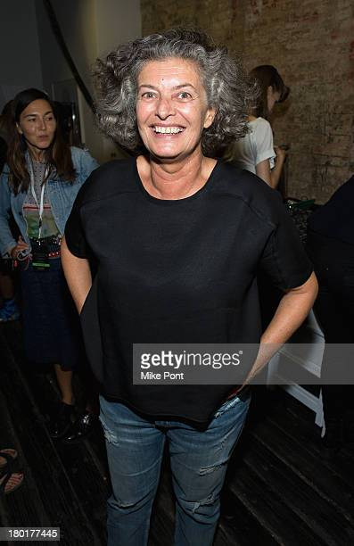 Designer Manuela Arcari poses at the Hache presentation during MercedesBenz Fashion Week Spring 2014 at Hosfelt Gallery on September 9 2013 in New...