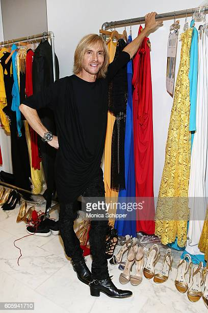 Designer Marc Bouwer poses for a photo backstage at the Marc Bouwer fashion show during New York Fashion Week September 2016 on September 15, 2016 in...