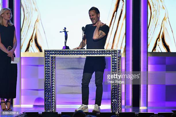 Designer Marc Jacobs accepts The Award for Womenswear Designer of The Year at the 2016 CFDA Fashion Awards at the Hammerstein Ballroom on June 6 2016...