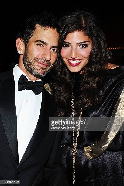 Designer Marc Jacobs and actress Amanda Setton attend the 2010 amfAR New York Inspiration Gala at The New York Public Library on June 3 2010 in New...