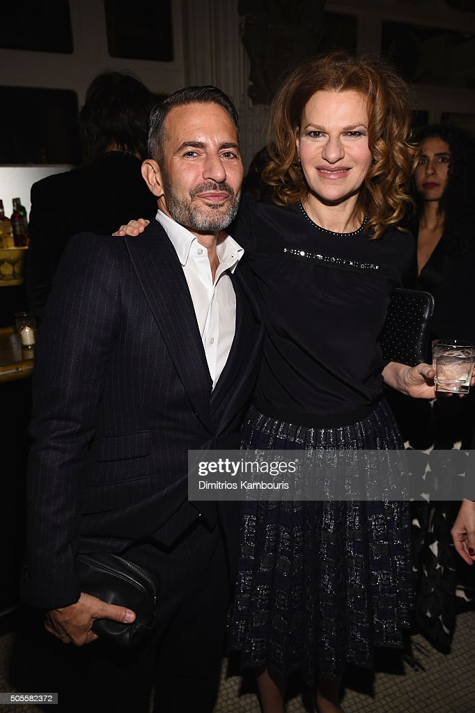Designer Marc Jacobs and actress Sandra Bernhard attend Marc Jacobs Beauty Velvet Noir Mascara Launch Dinner on January 18, 2016 in New York City.