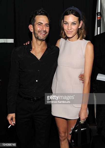 Designer Marc Jacobs and Alexa Chung attend the Marc Jacobs SS11 Show at NYState Armony 68 Lex on September 13 2010 in New York City