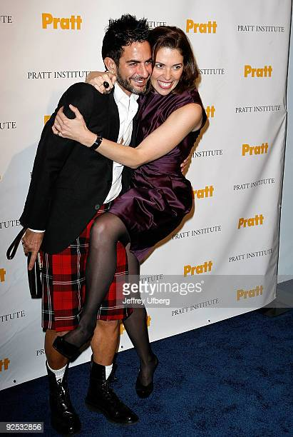Designer Marc Jacobs and Amy Cappellazzo attend the 2009 Pratt Institute Legends Scholarship Benefit at 7 World Trade Center on October 29 2009 in...