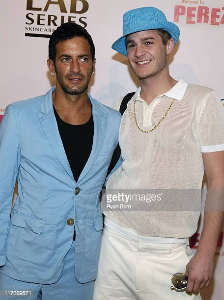 Designer Marc Jacobs and Austin A arrive at Perez Hilton's 30th Birthday Celebration on March 22 2008 at the Beverly Wilshire Hotel in Beverly Hills...