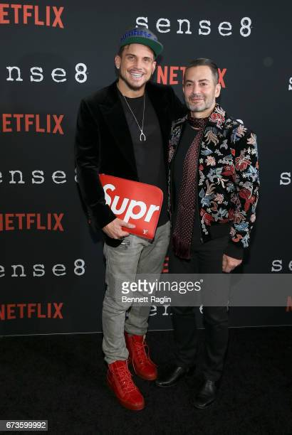 Designer Marc Jacobs and guest attend the Sense8 New York premiere at AMC Lincoln Square Theater on April 26 2017 in New York City