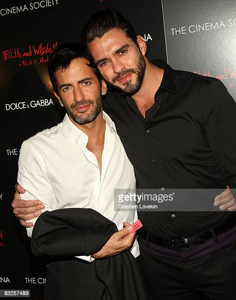 Designer Marc Jacobs and Lorenzo Martone attend a screening of Filth and Wisdom hosted by The Cinema Society and Dolce and Gabbana at the IFC Center...