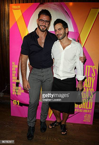 Designer Marc Jacobs and Lorenzo Martone attend Lady Gaga and the launch of V61 hosted by V Magazine Marc Jacobs and Belvedere Vodka on September 14...