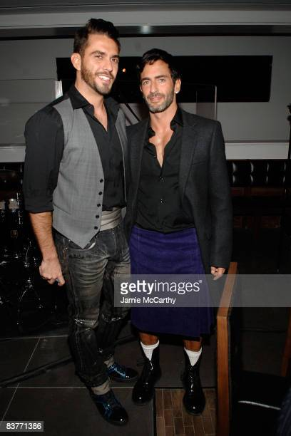 Designer Marc Jacobs and Lorenzo Martone attend the MANGO flagship store celebration dinner at Shang Restaurant Thompson LES Hotel on November 20...