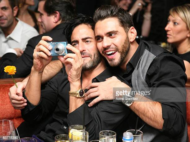 Designer Marc Jacobs and Lorenzo Martone attends the after party to the re-launch of MANGO's flagship store held at the Shang Restaurant on November...