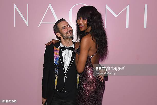 Designer Marc Jacobs and model Naomi Campbell attend as Marc Jacobs Benedikt Taschen celebrate NAOMI at The Diamond Horseshoe on April 7 2016 in New...