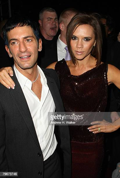 Designer Marc Jacobs and singer Victoria Beckham attends Marc Jacobs Fall 2008 fashion show during MercedesBenz Fashion Week Fall 2008 February 8...