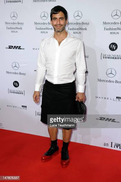Designer Marc Jacobs arrives for the Designer For Tomorrow Show during the MercedesBenz Fashion Week Spring/Summer 2013 on July 4 2012 in Berlin...