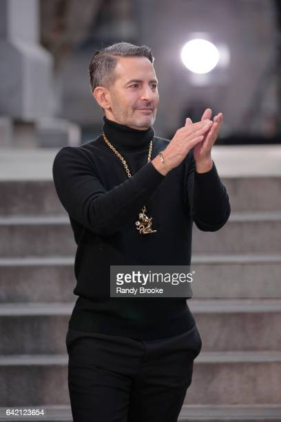 Designer Marc Jacobs at the end of his Fall 2017 Marc Jacobs Runway show February 2017 during New York Fashion Week The Shows on February 16 2017 in...