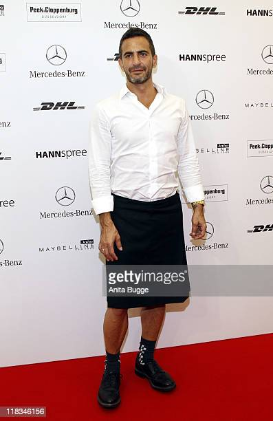 Designer Marc Jacobs attends the 'Designer for Tomorrow' Show during the MercedesBenz Fashion Week Berlin Spring/Summer 2012 on July 6 2011 at the...