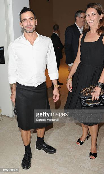 Designer Marc Jacobs attends the Louis Vuitton The Art Of Fashion exhibition opening during Milan Fashion Week Womenswear Spring/Summer 2012 on...