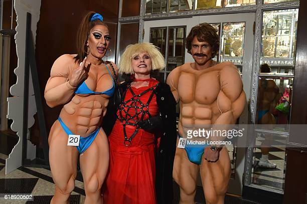 Designer Marc Jacobs Debbie Harry and Charly DeFrancesco attend the 2016 Hulaween Party Celebrating New York Restoration Project's 21st Anniversary...