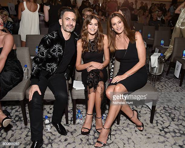 Designer Marc Jacobs, Kaia Gerber, and Cindy Crawford attend the The Daily Front Row's 4th Annual Fashion Media Awards at Park Hyatt New York on...