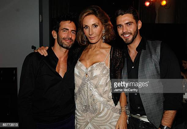 Designer Marc Jacobs Nati Abascal and Lorenzo Martone attendthe relaunch celebration of the MANGO Flagship Store on November 20 2008 in New York City