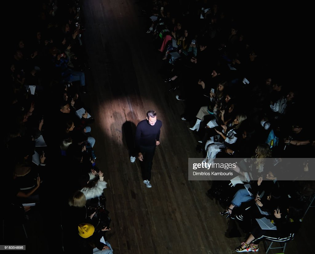 Designer Marc Jacobs walks during the Marc Jacobs Fall 2018 Show at Park Avenue Armory on February 14, 2018 in New York City.