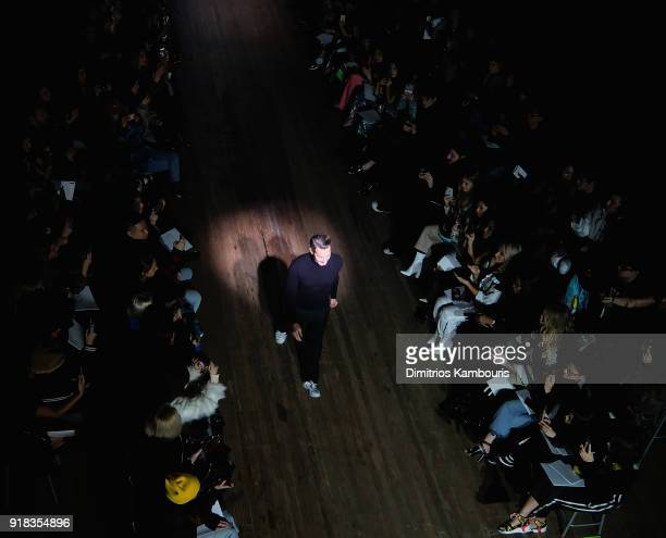 Designer Marc Jacobs walks during the Marc Jacobs Fall 2018 Show at Park Avenue Armory on February 14 2018 in New York City