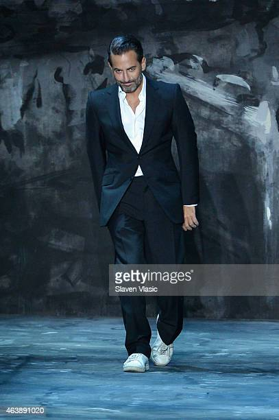 Designer Marc Jacobs walks the runway at Marc Jacobs fashion show during MercedesBenz Fashion Week Fall 2015 at Park Avenue Armory on February 19...