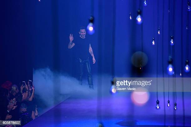 Designer Marc Jacobs walks the runway at the Marc Jacobs fashion show durin New York Fashion Week at Hammerstein Ballroom on September 15 2016 in New...