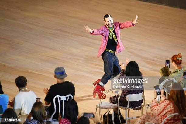 Designer Marc Jacobs walks the runway finale during the Marc Jacobs Spring 2020 Runway Show at Park Avenue Armory on September 11, 2019 in New York...