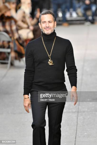 Designer Marc Jacobs walks the runway for the Marc Jacobs Fall 2017 Show at Park Avenue Armory on February 16 2017 in New York City