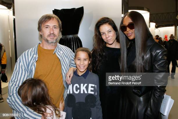 Designer Marc Newson his wife Charlotte Stockdale their daughters and Naomi Campbell attend the 'Azzedine Alaia Je Suis Couturier' Exhibition as part...