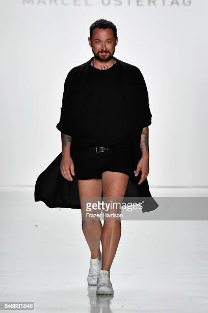 Designer Marcel Ostertag walks the runway at the Marcel Ostertag fashion show during New York Fashion Week The Shows at Gallery 3 Skylight Clarkson...