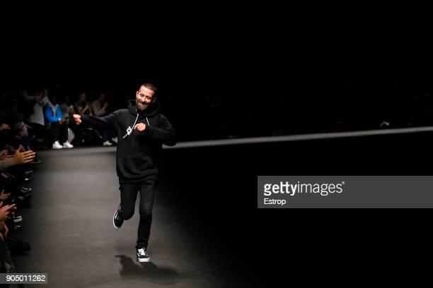 Designer Marcelo Burlon at the Marcelo Burlon County Of Milan show during Milan Men's Fashion Week Fall/Winter 2018/19 on January 13 2018 in Milan...