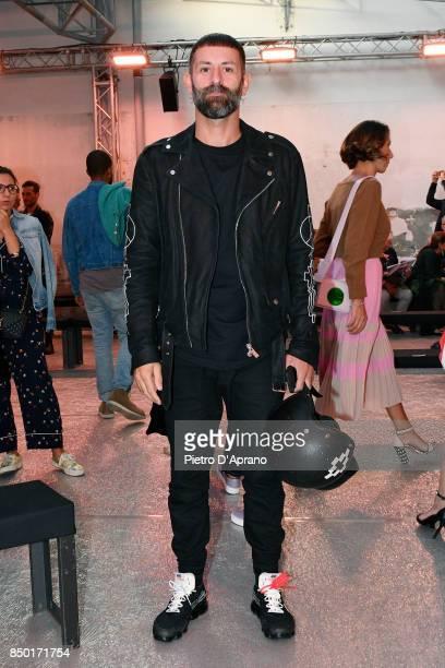 Designer Marcelo Burlon attends the N21 show during Milan Fashion Week Spring/Summer 2018 on September 20 2017 in Milan Italy
