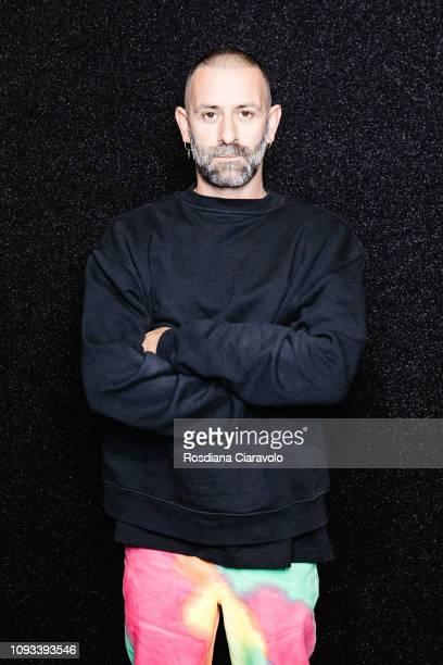 Designer Marcelo Burlon is seen backstage ahead of the Marcelo Burlon County Of Milan show during Milan Menswear Fashion Week Autumn/Winter 2019/20...